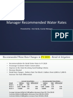 Water Rate Recommendations