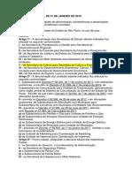 Decreto Nº 64 059 de 01 de Janeiro de 2019_crias as Secretarias