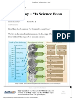 """Short Essay - """"is Science Boon or Bane"""""""