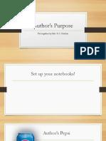 Authors Purpose Powerpoint