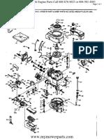 Tecumseh Engine Parts Manual TVS100 44050G