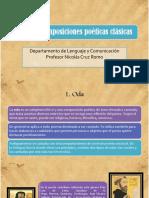 PPT - Tipos de Composiciones Poéticas Clásicas