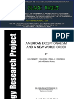American Exceptionalism and a New World Order