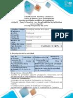 Guía de Actividades y Rúbrica de Evaluación - Paso 3- Resolver Caso de Aplicabilidad de Bioética en Investigación