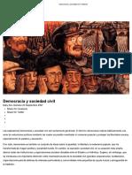 Democracia y sociedad civil