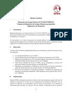 Opinión legal de la SPDA sobre el Proyecto de Reglamento de Evaluación del OEFA