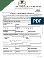Loan Application Form 2019-20 Academic Year (1)