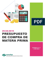 Presupuesto de Compra de Materia Prima