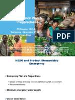 Respuesta de emergencia con fertilizantes