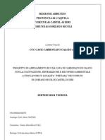 ampliamento,sistemazione e recupero ambientale di una cava in località Pretara