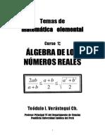 Álgebra de Los Números Reales - Verastegui