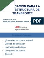 Tarificación de Infraestructura de Transporte CPI L.degrange