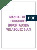 Manual de Funciones Importadora Velasquez