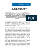 El Belgrano Cargas recupera un ramal histórico en Salta y Tucuman