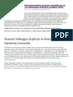 Novedades de Microbiologia en El Entorno Ambiental