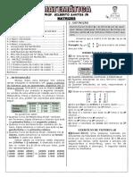 Apostila de Matrizes (10 Páginas, 65 Questões, Com Gabarito)