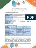 Guia de Actividades y Rubrica de Evaluacion Problema 1 - Desarrollo de La Contabilidad