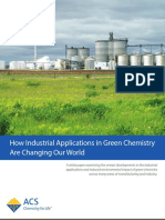 Green Chemical Processes Developments in Research and Education