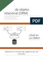 Mapeo de Objeto-relacional (ORM)