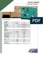 DCA13SPK Denyo specification