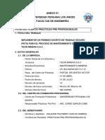 IMPLEMENTAR UN PERMISO ESCRITO DE TRABAJO SEGURO (PETS) PARA EL PROCESO DE MANTENIMIENTO EN LA EMPRESA TECIN MINERA S.A.C.