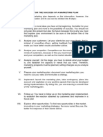 8 Steps for the Success of a Marketing Plan Resumen