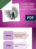 pasos  para elaborar misión y visión