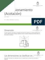 Dimensionamiento (Acotación) Universidad Nacional de Colombia