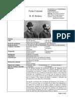 Ficha H H Holmes