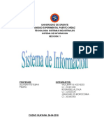 Sistema de Informacion. Rosangel Alcala