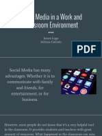social media in a work and classroom environment