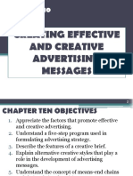 Chapter 10 - Creating Effective and Creative Advertising Messages by Jason j.