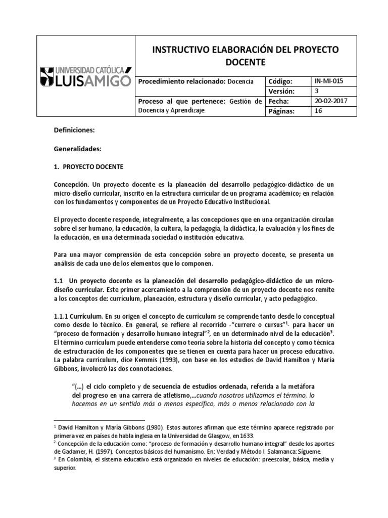 606 In Mi 015 Elaboracion Del Proyecto Docente V3 Plan