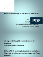 Muticollinearity of Technical Indicators