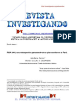 Pisa 2003 Construir un plan escritor en el Perú