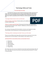 technology skills and tools