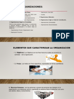 Presentacion-elementos Que Caracterizan La Organizacion