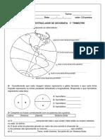 1ª  ATIVIDADE EXTRACLASSE DE GEOGRAFIA   1º  TRIMESTRE  2019 5 ANO.docx