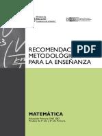 Matematicas - RECOMENDACIONES