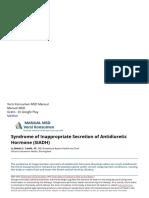 Sindrom Sekresi Hormon Antidiuretik (SIADH) Yang Tidak Pantas - Gangguan Hormon Dan Metabolik - Manual MSD Versi Konsumen