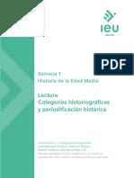 Categorías historiográficas y periodificación complementaria