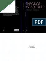Top. A - complemet. ADORNO, Theodor - Introducao a sociologia.pdf