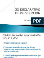 Juicio Declarativo de Prescripción (Curso Colegio de Abogados)