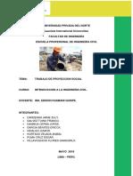 Proyecto Social en Pativilca de Agua y Desague