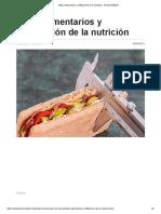 Mitos Alimentarios y Mitificación de La Nutrición