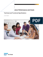 Sap Successfactors Performance and Goals Specification