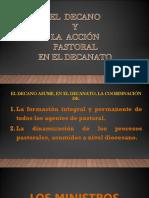 El Decano y la accion pastoral