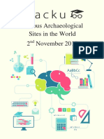 List of Famous Archaeological Sites and Their Locations