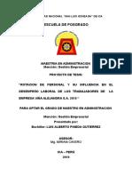 Esquema de Proyecto de Tesis Universidad Nacional San Luis Gonzaga Maestria