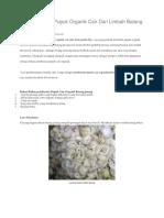 Cara Membuat Pupuk Organik Cair Dari Limbah Batang Pisang